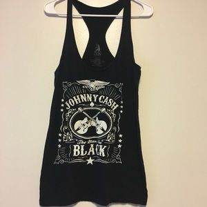 Johnny cash tank top large